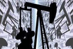 Pompa Jack del pozzo di petrolio Fotografia Stock Libera da Diritti