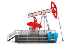 Pompa Jack Oil Crane Immagine Stock