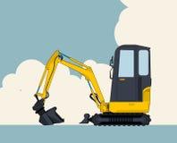 Pompa per calcestruzzo, fossa, fondamento, pompa, dettaglio, barretta, barra, tubo, tubo, metallo, enorme, macchinario, cielo, ca royalty illustrazione gratis