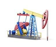 pompa-presa dell'olio 3d isolata su fondo bianco Fotografie Stock