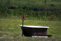Pompa su un'azienda agricola Fotografia Stock Libera da Diritti
