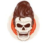 Pompadour Skull Head Stock Image
