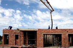 Pompage concret Photo stock