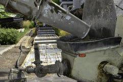 Pompaggio del cemento Immagine Stock