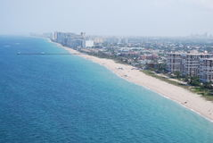 Pompano Beach. Coastline of Pompano Beach from the air Royalty Free Stock Images
