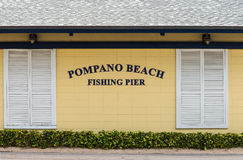 Pompano Beach Sign Royalty Free Stock Image