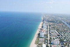 Pompano Beach. View of Pompano Beach Coastline Royalty Free Stock Image