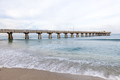 Pompano Plażowy molo, Floryda Obraz Royalty Free
