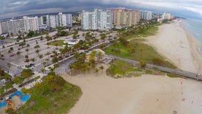 Pompano Strand Florida stock videobeelden