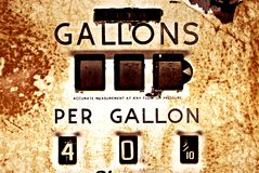 Pompe à gaz de cru Images stock