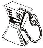 Pompe à gaz serrée Images libres de droits
