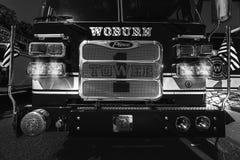 Pompe à incendie de la tour 1 de Woburn image libre de droits