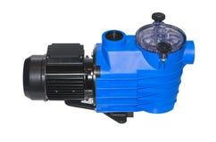 Pompe avec le prefilter pour la circulation de l'eau dans les piscines petites et moyennes de ménage photo stock