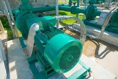 Pompe centrifuge et moteur Photo stock