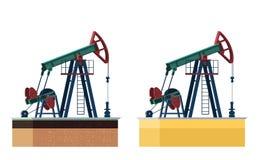Pompe de pétrole Images libres de droits