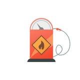Pompe de station service avec le gicleur d'essence Illustration de vecteur Photographie stock libre de droits