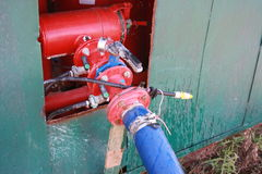 Pompe de système d'irrigation par égouttement Photo libre de droits