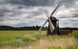 Pompe de vent de Herringfleet Images libres de droits