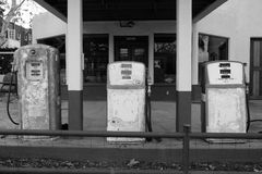Pompe dell'annata di Los Alamos Fotografie Stock Libere da Diritti