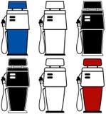 Pompe di gas Fotografie Stock Libere da Diritti