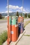 Pompe di gas antiche Fotografia Stock Libera da Diritti