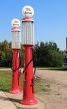 Pompe di gas antiche Fotografia Stock