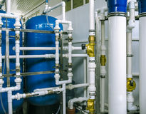 Pompe e rete di tubazioni Immagini Stock