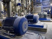 Pompe e tubi industriali Fotografie Stock