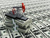 Pompe et dollars de pétrole Photos stock