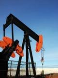 Pompe Jack de gisement de pétrole Image libre de droits