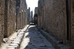 Pompei губит улицу стоковые изображения