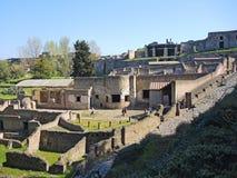 Pompei дом старых римских руин, часть мест всемирного наследия ЮНЕСКО стоковое фото rf
