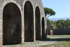 Pompei Amphitheatre Stock Photography