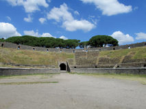 Pompei ancient Roman ruins - Pompei Scavi amphitheater Royalty Free Stock Photos
