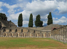Pompei ancient Roman ruins - Pompei Scavi amphitheater Stock Photos