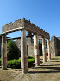 Pompei ancient Roman ruins - Pompei Scavi walls and columns Stock Photography