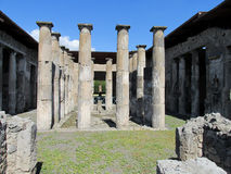 Pompei ancient Roman ruins - Pompei Scavi walls and columns Royalty Free Stock Photos