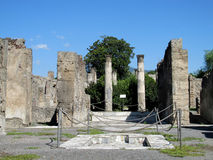 Pompei ancient Roman ruins - Pompei Scavi walls and columns Royalty Free Stock Photography