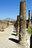 Pompei And Vesuvius Royalty Free Stock Photo