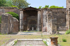 Pompei interior court Stock Photography