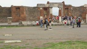 Pompei Italië stock video