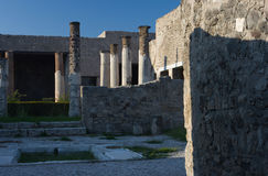 Pompei in Italy. Images from historical town Pompei Stock Images