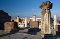 Pompei in Italy. Images from historical town Pompei Stock Photo