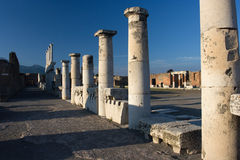 Pompei in Italy. Images from historical town Pompei Royalty Free Stock Photo