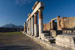 Pompei in Italy. Images from historical town Pompei Stock Image