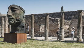 Pompei, Italy.  2016 May 22 . Exhibition of 30 statues to the ar Stock Images