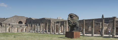 Pompei, Italy.  2016 May 22 . Exhibition of 30 statues to the ar Stock Image