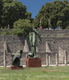 Pompei, Italy.  2016 May 22 . Exhibition of 30 statues to the ar Stock Photos