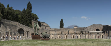 Pompei, Italy.  2016 May 22 . Exhibition of 30 statues to the ar Stock Photo