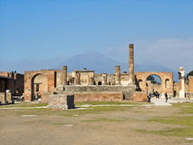 Pompei, Italy, The ruins of the Temple of  Jupiter Stock Images